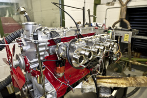 The completed engine undergoing extensive dyno testing.