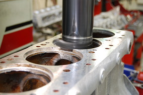 CNC machining of the top liner locations for accurate liner pertrusion.