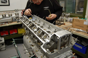 Compression ratio being checked, before the machining of the new cosworth pistons.